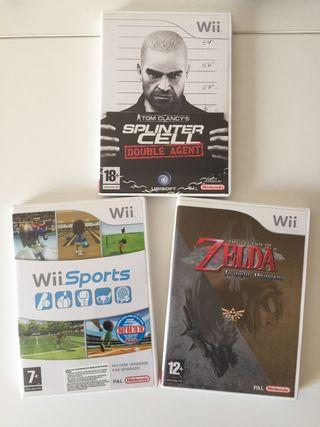3 juegos Wii a estrenar