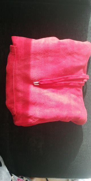 Sudadera roja corta con capucha H&M