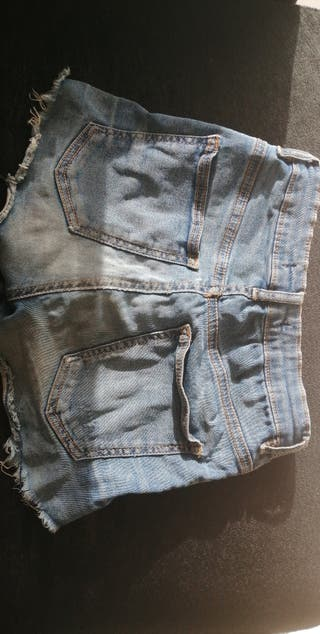 shorts azules Bershka