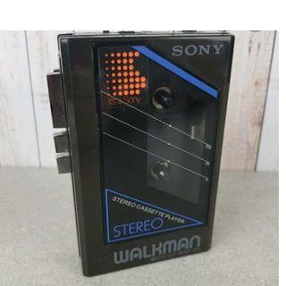 Vintage retro sony walkman sin tapa de pilas