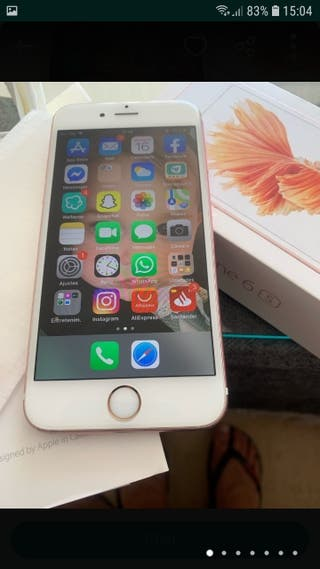 Iphone 6S Rosa y Blanco de 64gb