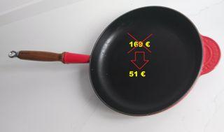 Sartén LE CREUSET 24 cm. para cocina de INDUCCIÓN