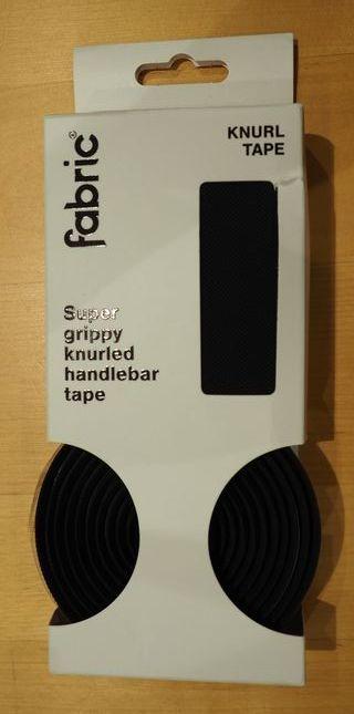 Cinta de manillar fabric Knurl Bar Tape negro