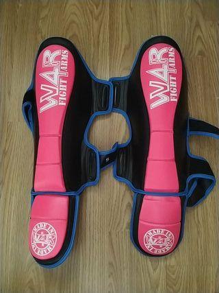 Protecciones espinillas Muay Thai