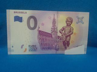 Eurosouvenir Billete 0 euros Manneken pis Belgica
