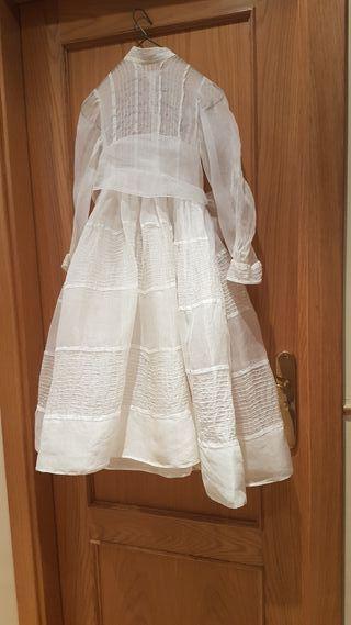 vestido organdi años 50 - 60