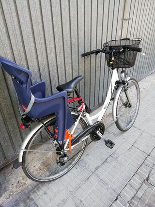 Bicicleta Bh London + silla portabebés