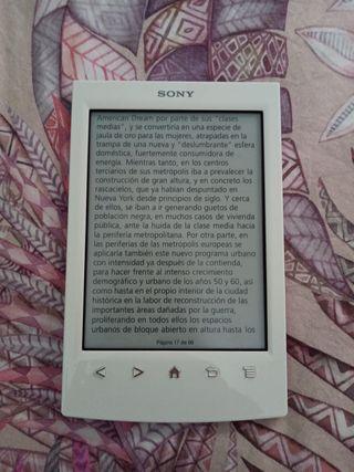 Ebook sony reader blanco con funda de piel