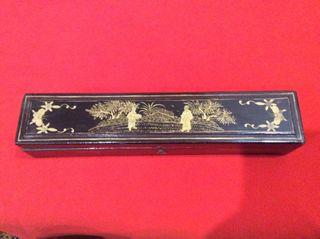 Caja de abanico china,lacada .