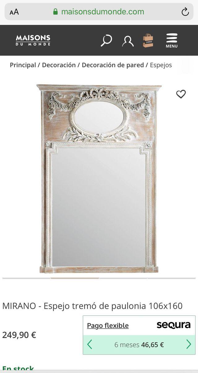 Espejo de pared Maison du monde 160