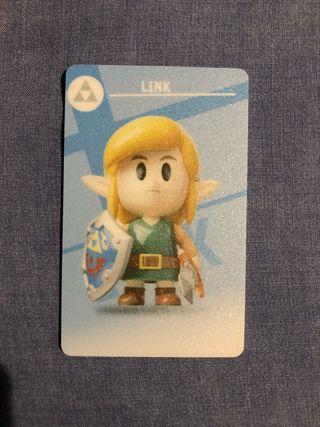 Tarjeta para el Amiibo de Zelda Link's Awakening