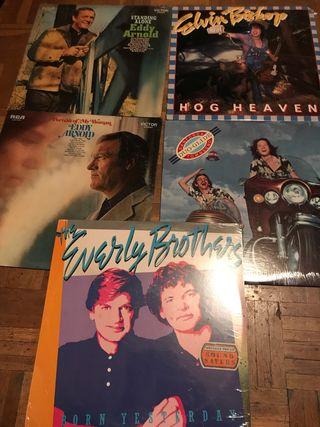 Lote de 5 discos sellados USA rock, country, blues