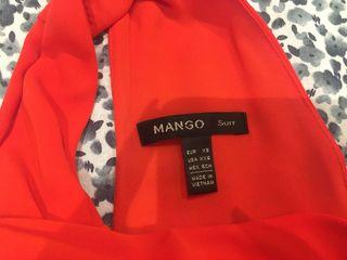 Vestido naranja corto Mango