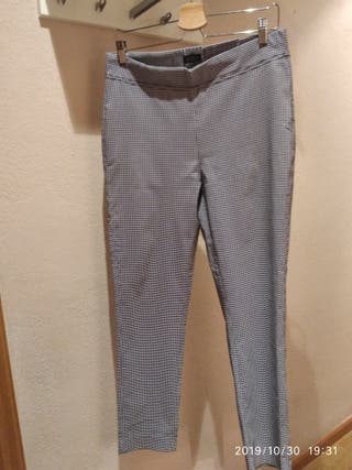 Pantalón talla 46 cuadro Vichy