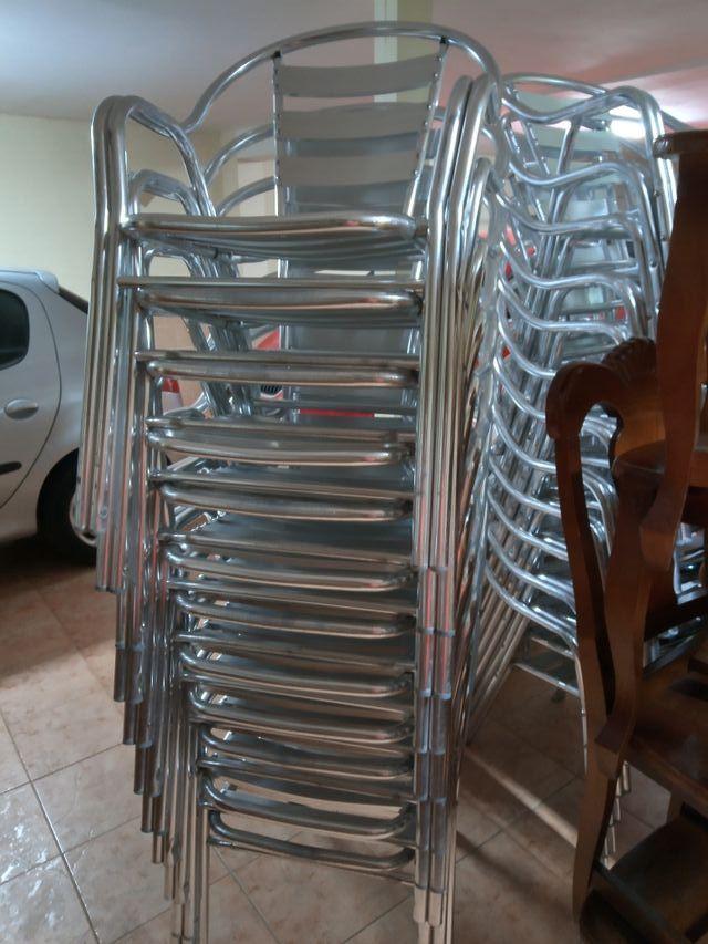 Sillas Aluminio Para Bar Terraza Eventos De Segunda Mano Por
