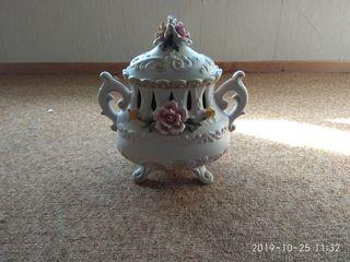 Sopera con bandeja de porcelana Capo di Monti