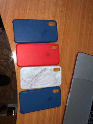 Pack-Fundas iPhone X perfecto estado. 15€ TODAS