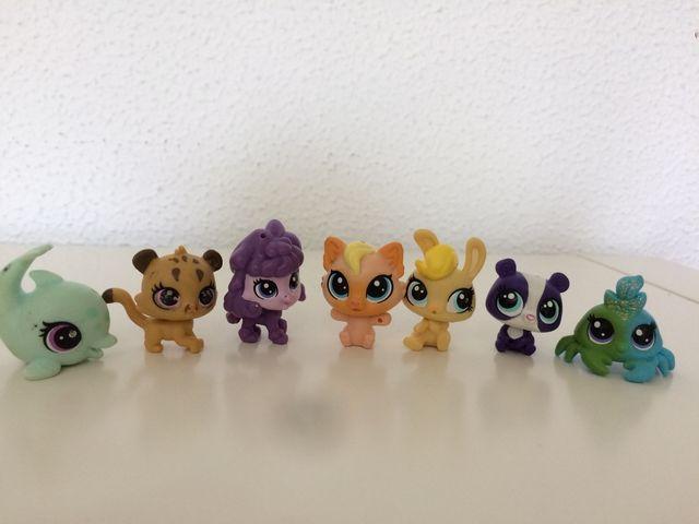Pet shop mini 7 animalitos . Figuritas.