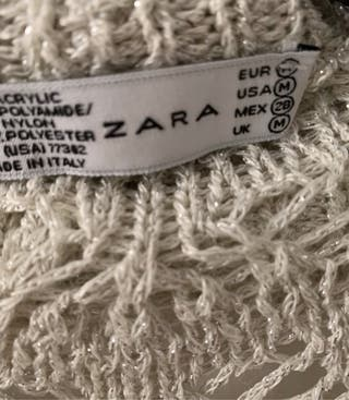 Chaqueta punto brillo Zara de segunda mano por 16 € en