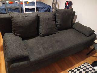 Canapé 3 places, lit convertible avec coffre