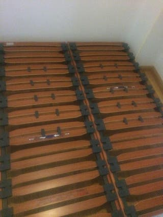 Estructura de cama de madera y somier FLEX