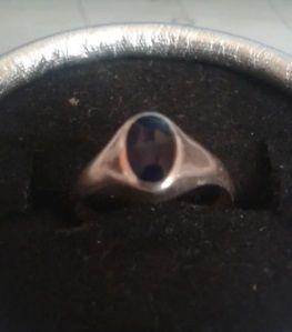 Sello anillo de plata 925 y piedra Onix