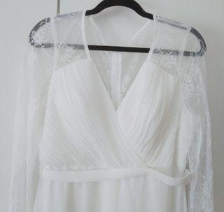 vestido de novia xxl y velo