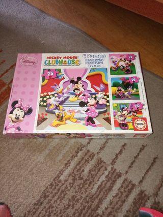 Cuatro puzzles progresivos de Mickey