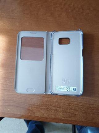 Funda original Samsung S7 edge Gold S VIEW COVER