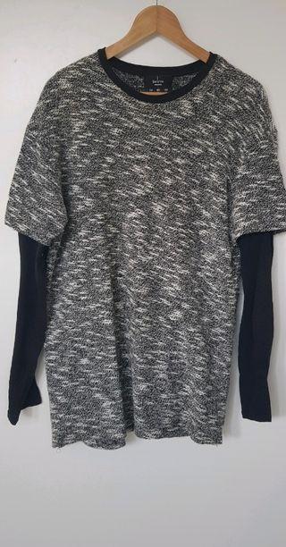 Jersey con mangas de camiseta
