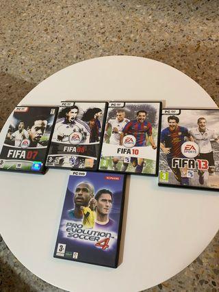 Lote de juegos de fútbol para PC