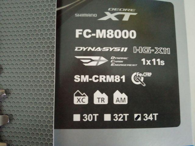 PLATO SHIMANO XT M8000 34 DIENTES NUEVO