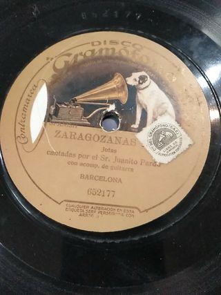 Disco de pizarra a 78 rpm de Zaragozas
