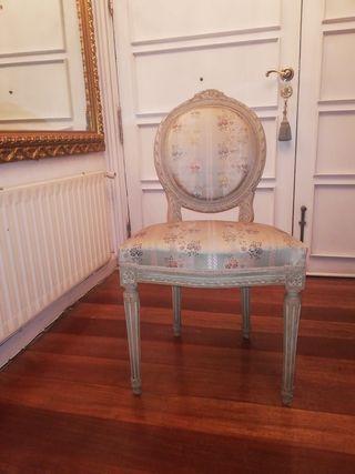2 Sillas Estilo Luis XVI