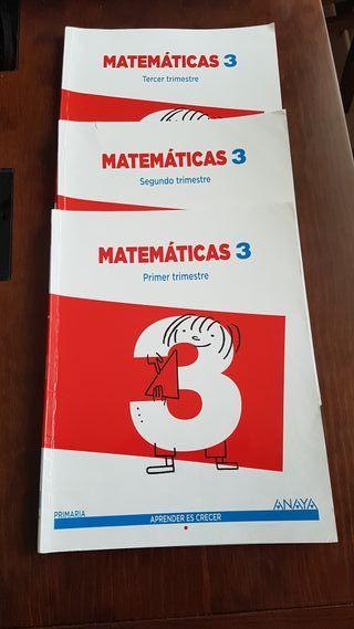 3 LIBROS MATEMÁTICAS 3º ISBN: 9788467864557