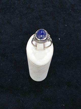anillo plata de ley con lapislázuli