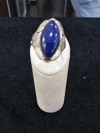 anillo plata de ley 925 lapislázuli