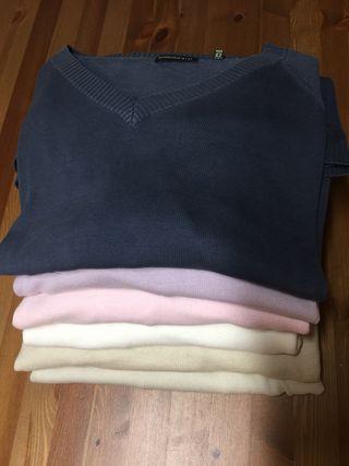 lote 6 jerséis de cuello de pico talla XL