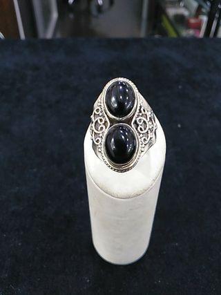 anillo plata de ley 925 con onices