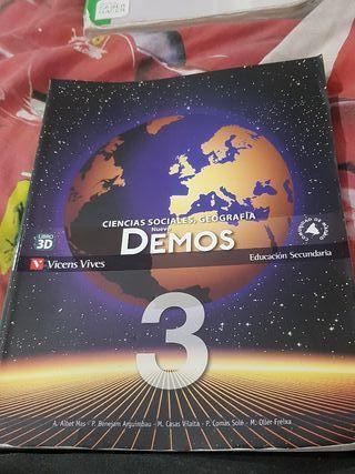 libro de Geografía 3º de la ESO