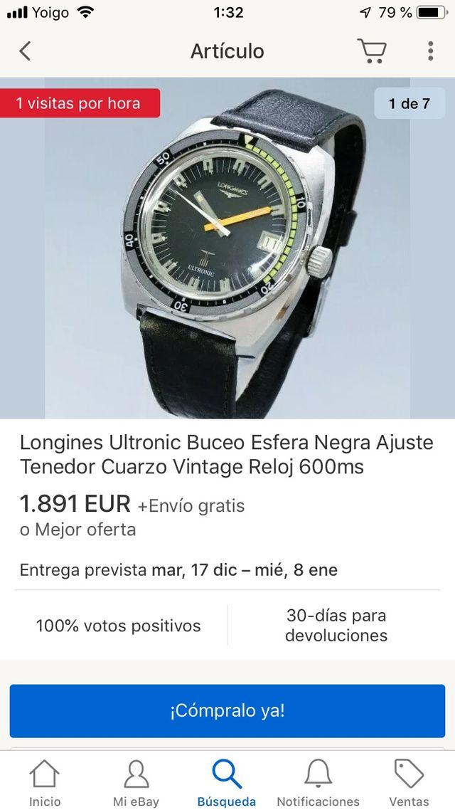 Longines ultronic Diver NOS