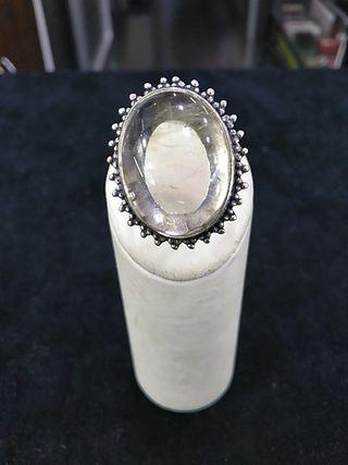 anillo plata de ley con cuarzo