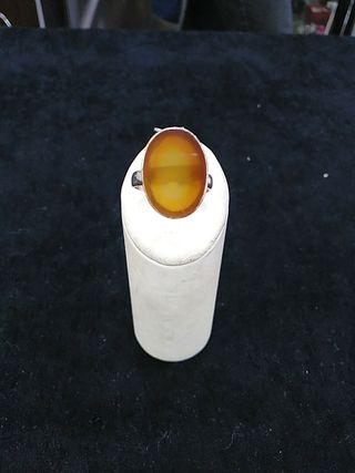 anillo plata de ley con piedra natural