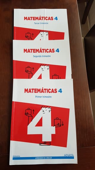 3 LIBROS MATEMÁTICAS 4º ISBN: 978846787769