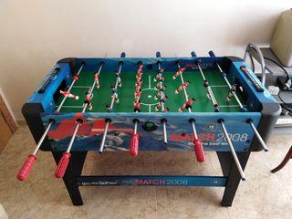 Futbolin match 2008 sin uso, prácticamente nuevo.