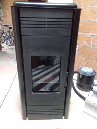 Estufa pellet radiadores caldera