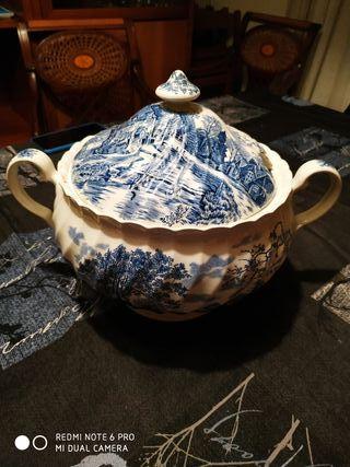 Sopera porcelana inglesa Costwold