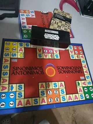 juego de mesa didáctico Sinónimos y antónimos ,más