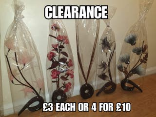 brand new artifical flowers vases (last change )