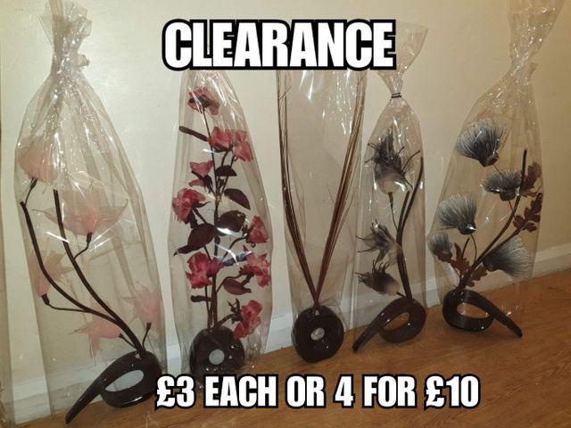 brand new artifical flowers vases (last change )